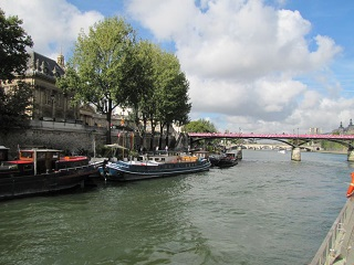 A Seine River port in Paris